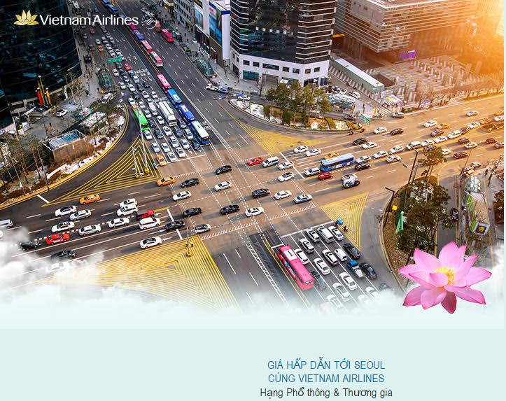 Vietnam Airlines triển khai giá hấp dẫn đi Seoul